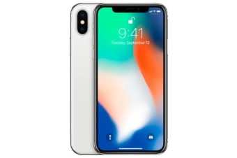 Used as Demo Apple iPhone X 64GB 4G LTE Silver (100% GENUINE + AUSTRALIAN WARRANTY)