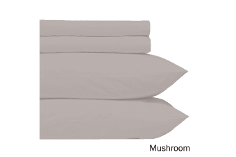 Microfiber Sheet Set Mushroom Double
