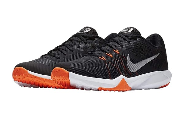 Nike Men's Retaliation TR Shoes (Black/Metallic Silver/Hyper Crimson, Size 11)
