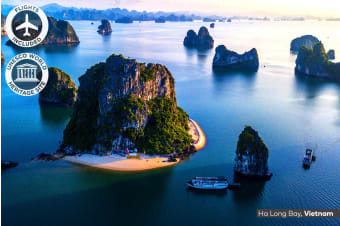 VIETNAM: 15 Day Vietnam & Cambodia Tour Including Flights for Two