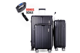 3pc Luggage Suitcase Trolley Set TSA Travel Carry On Bag Hard Case Lightweight G