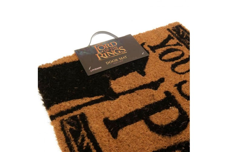The Lord Of The Rings Doormat (Brown) (One Size)