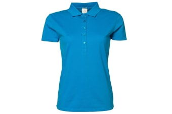Tee Jays Womens/Ladies Luxury Stretch Short Sleeve Polo Shirt (Azure Blue) (S)