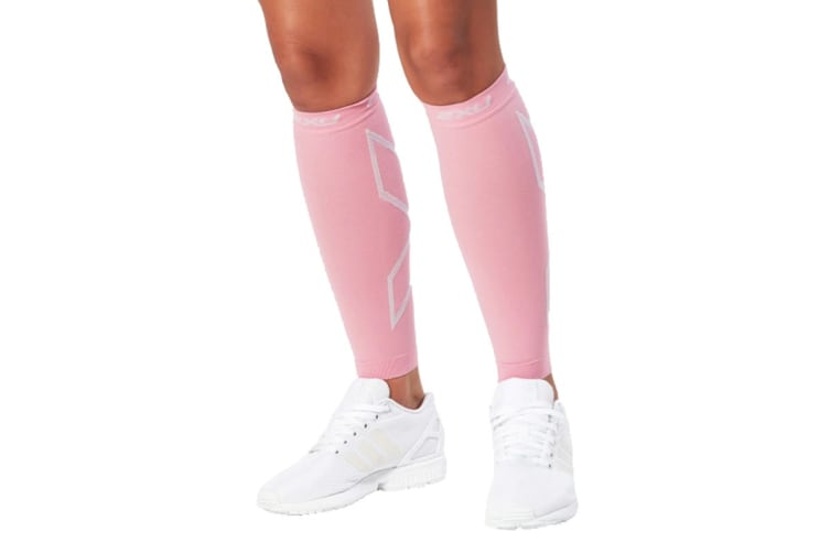 2XU Compression Calf Sleeves (Pink/Pink, Size  M)