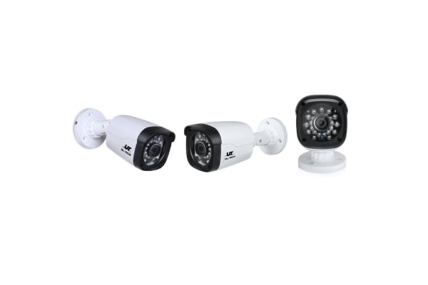 UL-TECH 1080P Eight Channel Security System with Cameras (White)