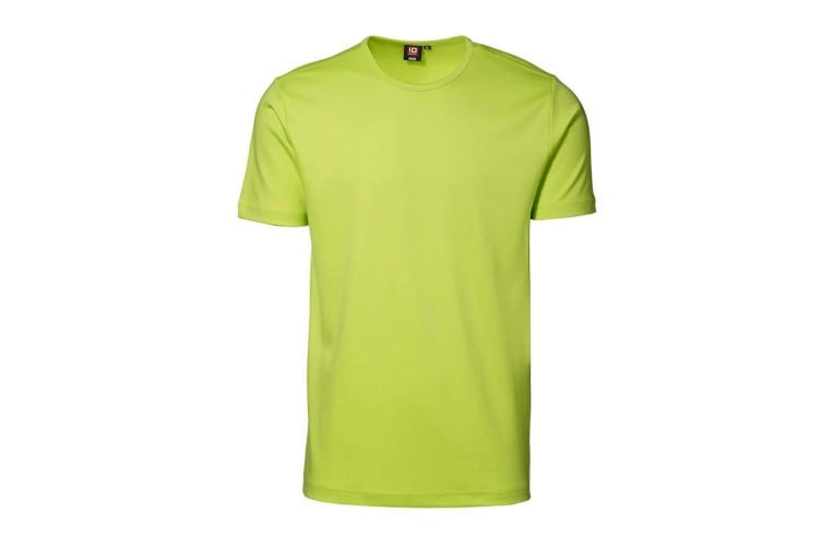 ID Unisex Interlock Fitted Short Sleeve Round Neck T-Shirt (Lime) (XL)