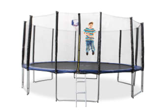 14ft Trampoline With Ladder & Basketball Hoop