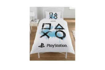 Playstation Inkwash Duvet Set (White)