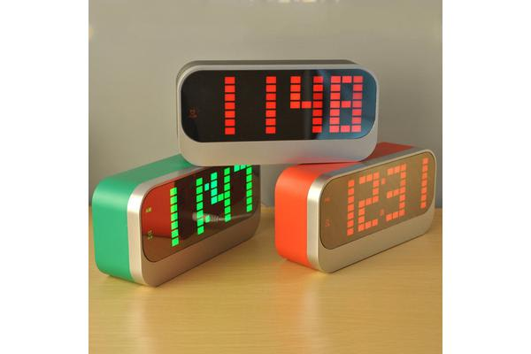 Led Digital Alarm Clock Portable Battery Powered Large Display