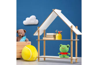 Artiss Wood Cabin Kids Display Shelf Toy Organizer Children Bookshelf Floor Rack