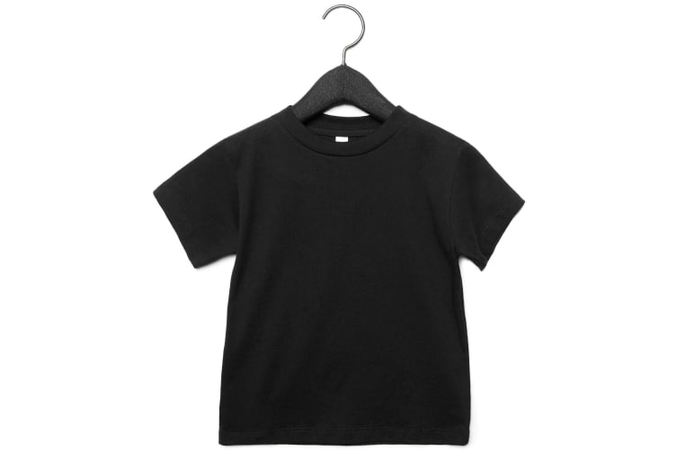 Bella + Canvas Toddler Jersey Short Sleeve T-Shirt (Pack of 2) (Black) (5 Years)