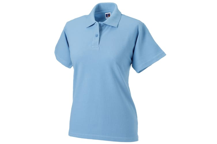 Russell Europe Womens/Ladies Classic Cotton Short Sleeve Polo Shirt (Sky) (M)