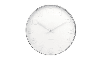 Karlsson Mr White Numbers Steel Wall Clock Large