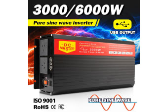 ATEM POWER Pure Sine Wave Inverter 3000W Max 6000W 12V-240V Watt Power Car Caravan Camping
