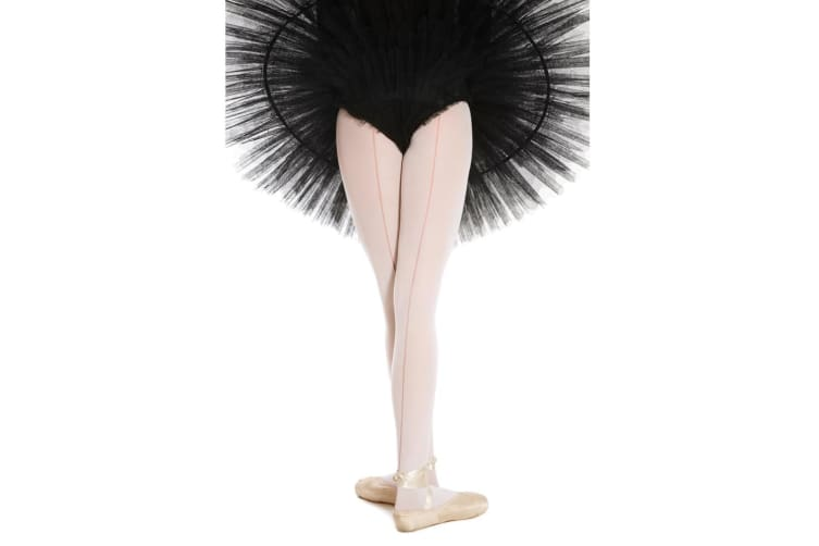 """Silky Womens/Ladies Dance Ballet Seamer Tights (1 Pair) (Ballet Pink) (Small (4ft11""""-5ft4""""))"""