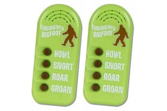 2PK Archie McPhee Electronic Emergency Bigfoot Noise Howl Snort Roar Groan Kids