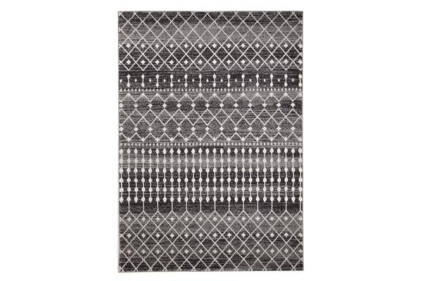 Simplicity Black Transitional Rug 290x200cm