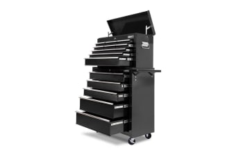 Giantz 14 Drawers Tool Box Chest Toolbox Cabinet Trolley Boxes Storage Roller