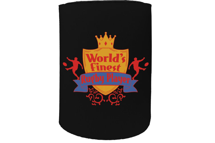 123t Stubby Holder - worlds finest eugby - Funny Novelty