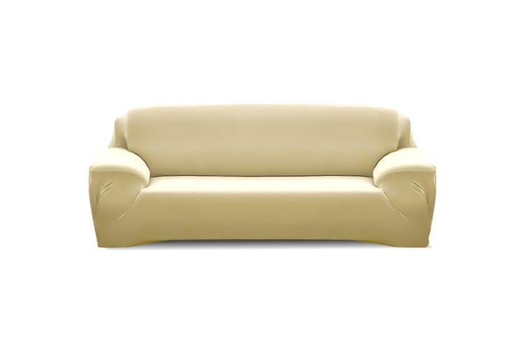 Easy Fit Stretch Couch Sofa Slipcovers Protectors Covers 3 Seater Cream -  3-Seater in Cream