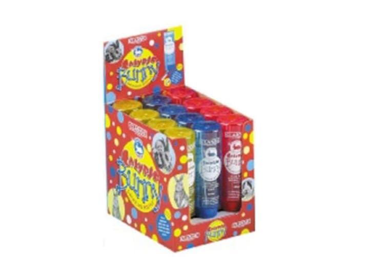 Classic De Luxe Colortone Rabbit Water Bottle Display Box Of 12 (Yellow/Blue/Red) (12 x 600ml)