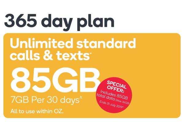 Kogan Mobile Prepaid Voucher Code: SMALL (365 Days | 7GB Per 30 Days)