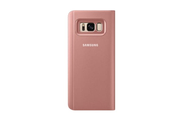 Samsung Galaxy S8 Clear View Stand Cover (Pink)
