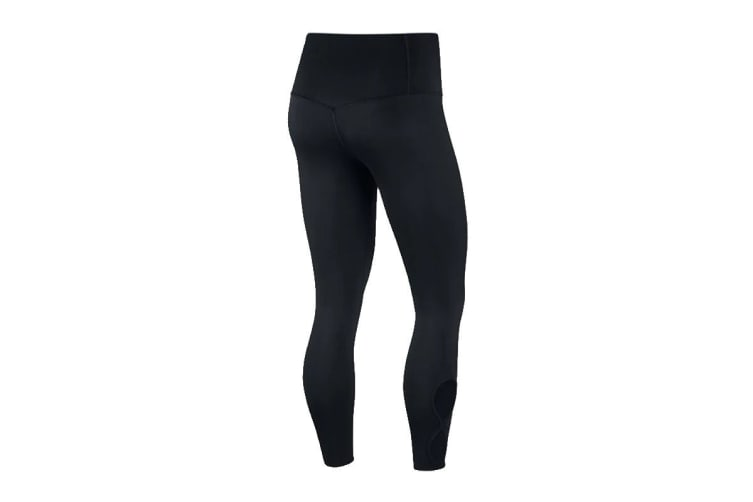 Nike Women's Yoga 7/8 Tights (Black, Size L)