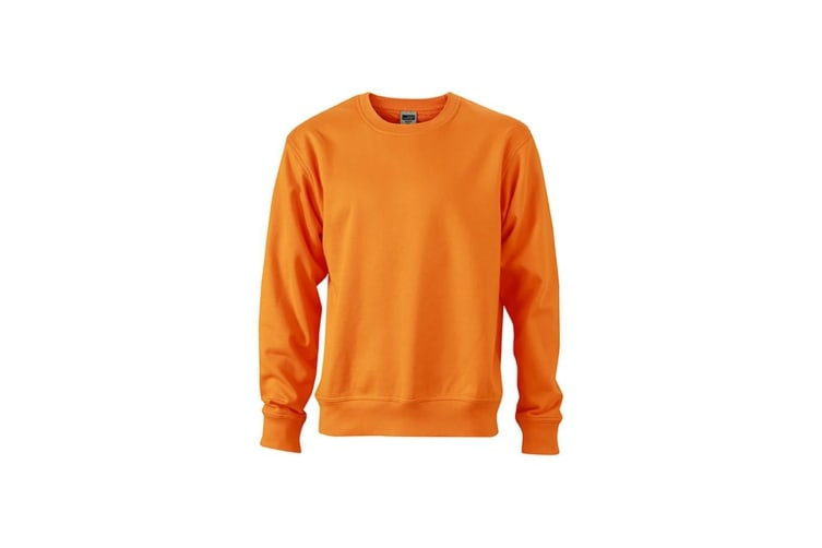 James and Nicholson Unisex Workwear Sweatshirt (Orange) (XXL)
