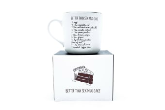 Better Than Sex Mug Cake Funny Novelty Mug With Instructions