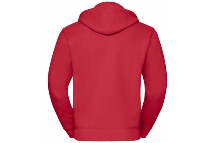 Russell Mens Authentic Full Zip Hooded Sweatshirt / Hoodie (Classic Red) (XS)