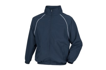 Tombo Mens Teamsport Start Line Sports Training Track Jacket (Navy/ White piping)