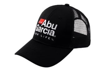 Abu Garcia Mesh Trucker Fishing Cap with Adjustable Snapback Closure-Fishing Hat