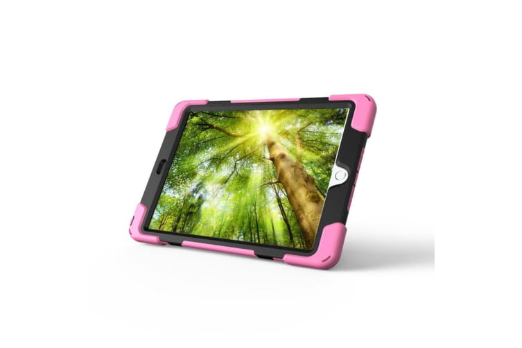 For iPad 2018 2017 9.7-inch Pink Hand-strap Armour Case