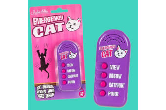 Emergency Cat Sounds Button | Archie McPhee | 4 Cat Sound Effects!