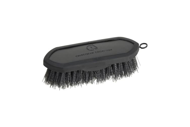 Coldstream Faux Leather Dandy Brush (Charcoal/Black) (18.3 x 6cm)