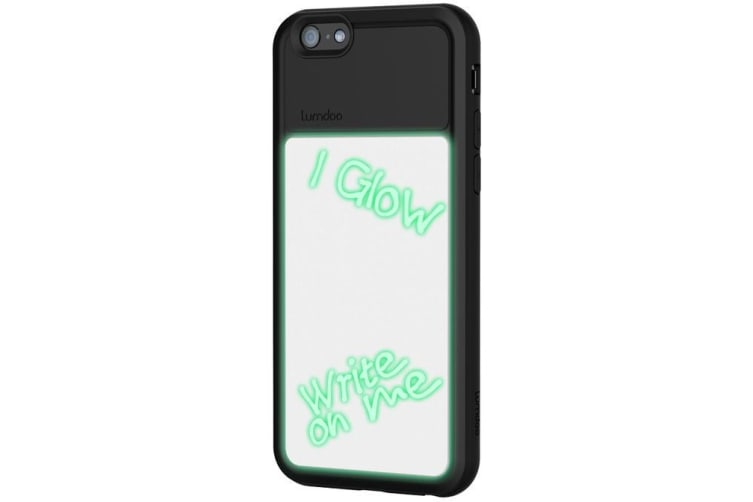 Extreme Light Glow in the Dark Case Cover w/UV Pen for Apple iPhone 6/6S BLK/WHT