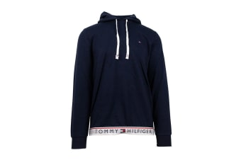 Tommy Hilfiger Men's Modern Essentials Flag Hoodie (Dark Navy)