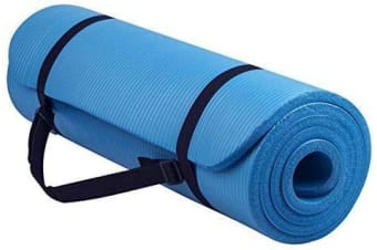 15MM Thick Yoga Mat Non Slip Durable Exercise Fitness Gym Mat Lose Weight Pad sky blue