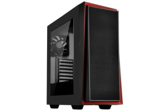 Silverstone RedLine RL06 Mid-Tower ATX Case Black With red Trim + Acrylic Window (Without PSU)