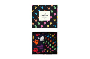 Happy Socks Happy Gift Box (Black, Size 36-40)