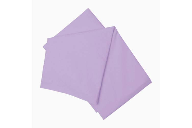 Belledorm 200 Thread Count Cotton Percale Flat Sheet (Lilac) (Single)