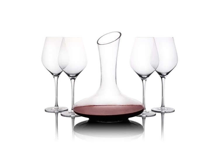 Gourmet Kitchen 5 Pieces Wine Glasses And Decanter Set