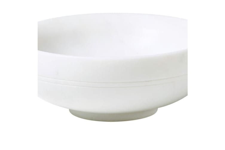 Salisbury & Co Carra Marble Shallow Bowl 13.5x5cm White