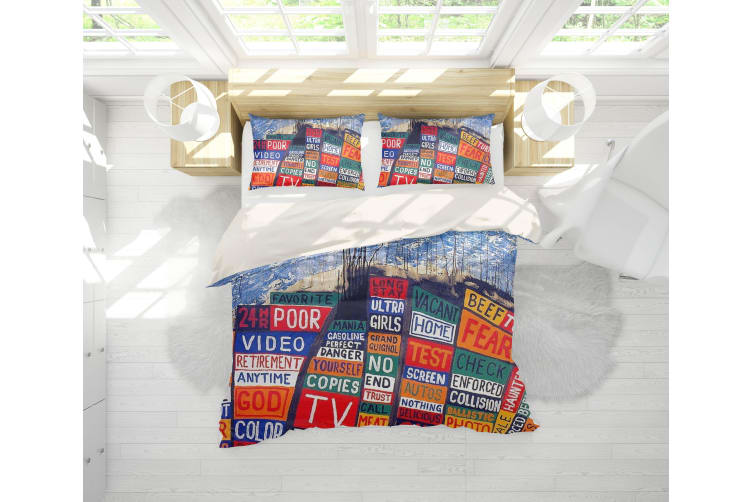 3D Band Radiohead Quilt Cover Set Bedding Set Pillowcases 55-Double