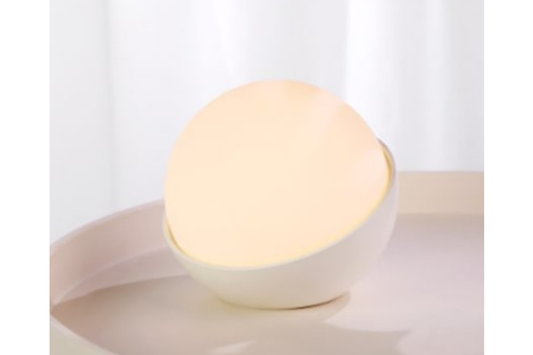 Select Mall Creative Colorful Night Light Small Table Lamp Atmosphere Lamp Soft and Pinchable Silicone Pat Light-White
