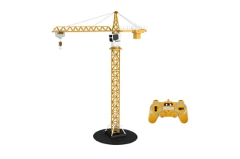 Double E 1:20 RC Tower Jib Crane/Construction Remote Control w/ USB Charger Kids