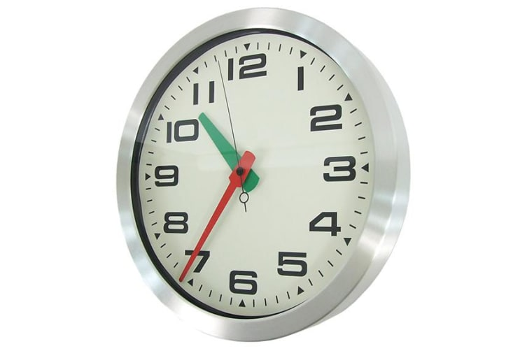 Wall Clock Aluminium Casing Home Decor Design Quartz