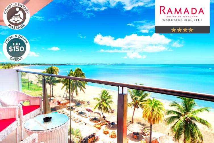 FIJI: 5 Nights at Wyndham Suites by Ramada Wailoaloa for Four (Two Bedroom Beachfront Suite)