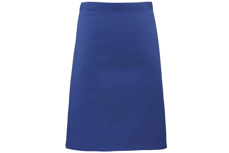Premier Ladies/Womens Mid-Length Apron (Pack of 2) (Royal) (One Size)
